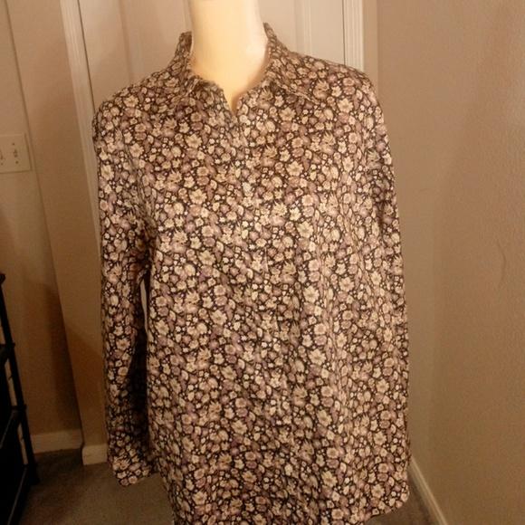 ef42874e985e4a Chaps Tops | Floral Buttondown Shirt | Poshmark